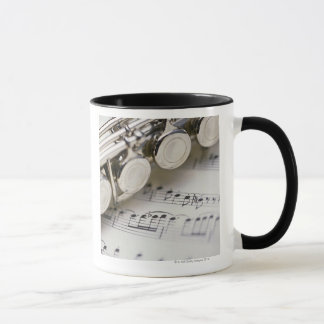 Flute on Sheet Music Mug