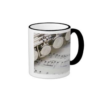 Flute on Sheet Music Coffee Mugs