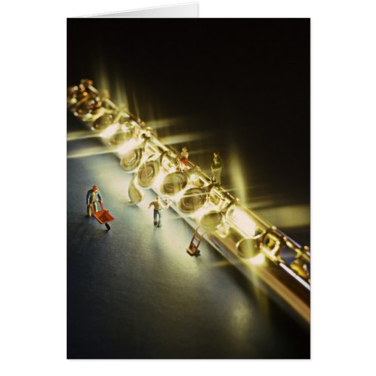 Flute or Flautist Greeting card or Note Card