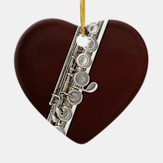 Flute or Flutist Musician Heart Ornament
