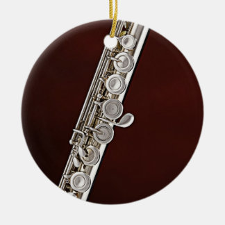 Flute or Flutist Musician Round Ornament