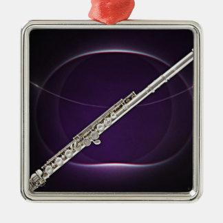 Flute or Flutist Musician Square Ornament