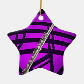 Flute or Flutist Musician Star Ornament