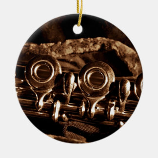 Flute Photo Christmas Ornament