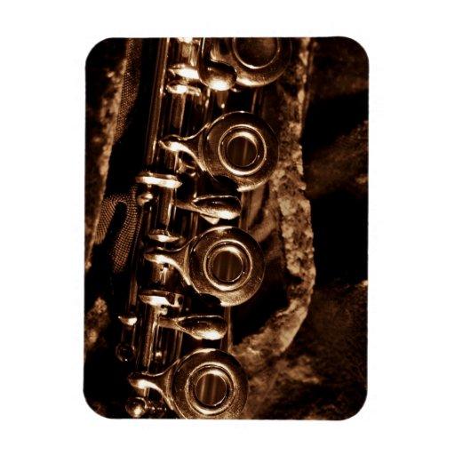 Flute Photo Vinyl Magnets