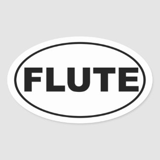 Flute Player Oval Sticker