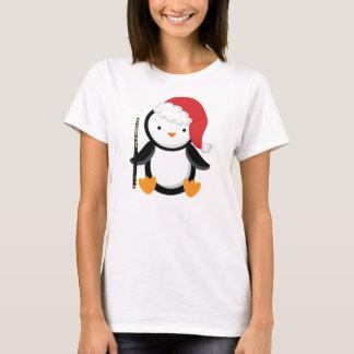 Flute Player Penguin Gift T-Shirt