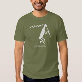 Flute Player Petroglyph T Shirt