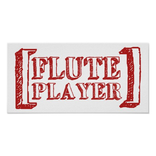 Flute Player Posters