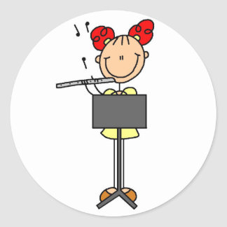 Flute Player Stickers Sticker