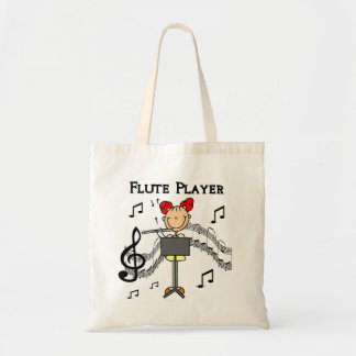 Flute Player T-shirts and Gifts Budget Tote Bag