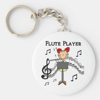 Flute Player T-shirts and Gifts Keychains