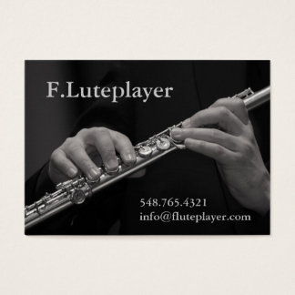 flute player's hands on flute business card