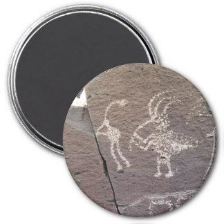 Flute Players Petroglyph Santa Fe New Mexico 7.5 Cm Round Magnet