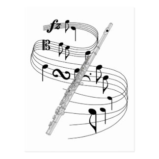 Flute Post Card