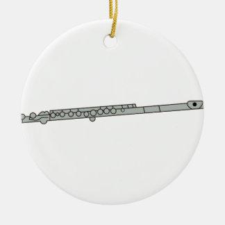 Flute Round Ceramic Decoration