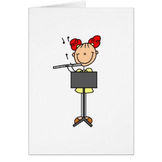 Flute Stick Figure Card