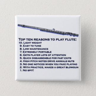 Flute Top 10 15 Cm Square Badge