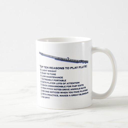 Flute Top 10 Classic White Coffee Mug
