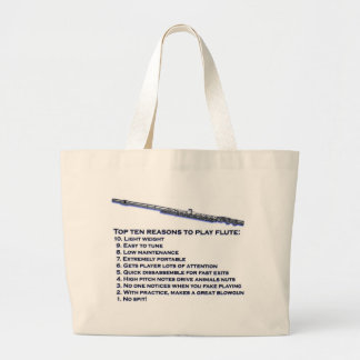 Flute Top 10 Large Tote Bag