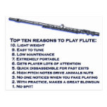 Flute Top 10 Post Card