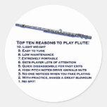 Flute Top 10 Round Sticker