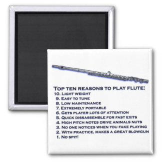 Flute Top 10 Square Magnet