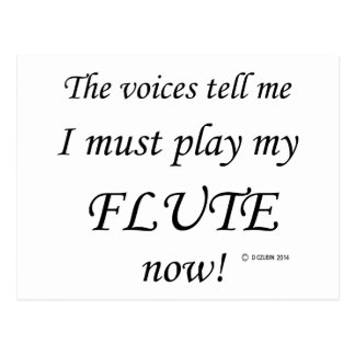 Flute Voices Say Must Play Postcard