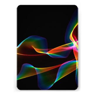 Fluted Cosmic Rainbow Abstract Winds Custom Invite