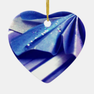 Fluted Wing Ceramic Heart Decoration
