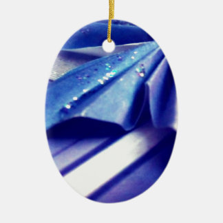 Fluted Wing Ceramic Oval Decoration