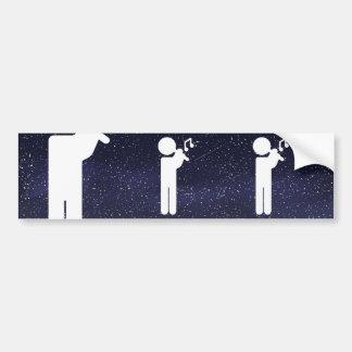 Flutes Plays Pictograph Bumper Sticker