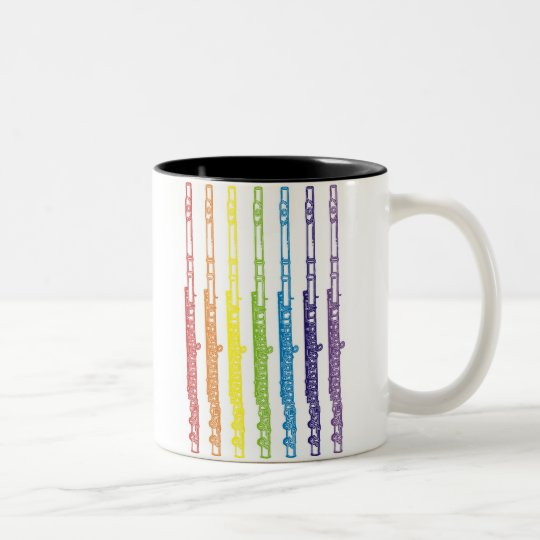 Flutes Two-Tone Coffee Mug