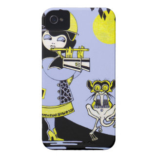 Flutist and the Monkey iPhone 4 Case-Mate Cases