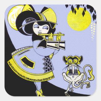 Flutist and the Monkey Sticker