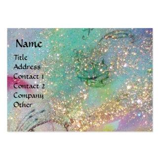FLUTIST IN BLUE / Venetian Carnival Night Business Card Templates
