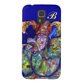FLUTIST IN BLUE / Venetian Carnival Night Monogram Cases For Galaxy S5