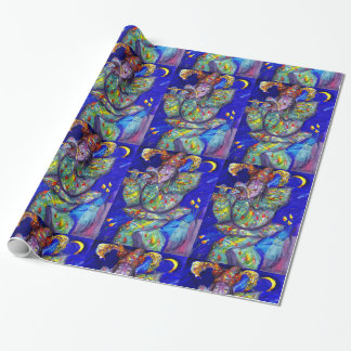 FLUTIST IN BLUE  / Venetian Carnival Night Wrapping Paper