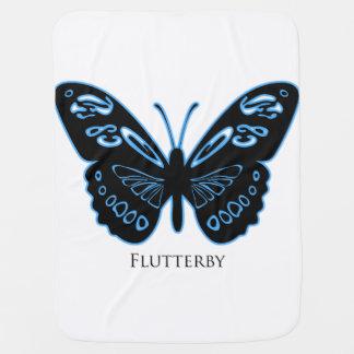 Flutter Blue Glow Baby Blanket