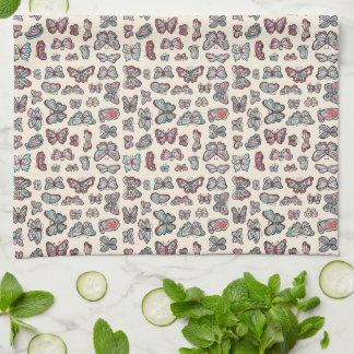 Flutter Butterflies kitchen towel