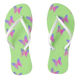 Flutter-Byes (green) flip-flops Flip Flops