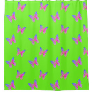Flutter-Byes shower curtain pattern