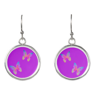 Flutter-Byes vibrant-violet drop earrings