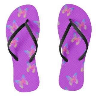 Flutter-Byes (violet) flip-flops Flip Flops