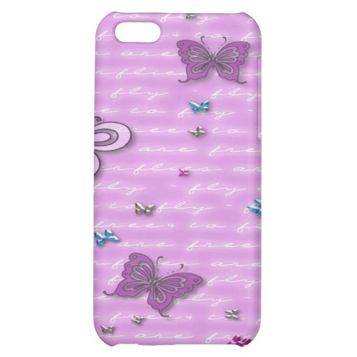 Flutterbies are Free to Fly iPhone 5C Cases