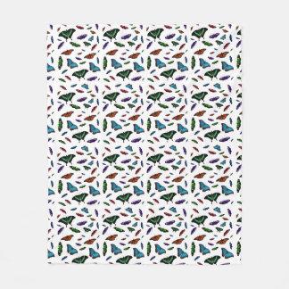 Flutterbies Fleece Blanket (choose colour)