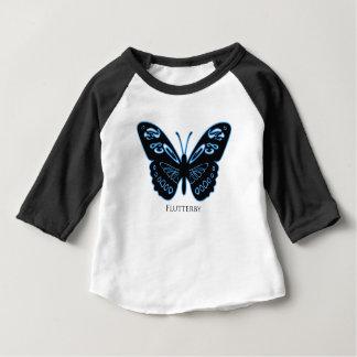 Flutterby Black Blue Glow Baby T-Shirt
