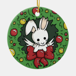 Flutterby Bunny Wreath - Holiday Decoration