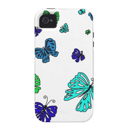 Flutterby Butterfly Vibe iPhone 4 Covers