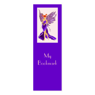 Flutterby Fae Damson Bookmark Business Cards